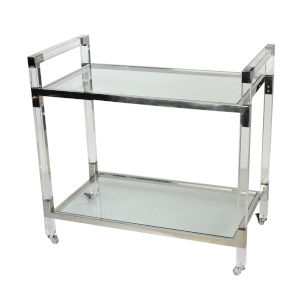 Soho Clear Bar Cart