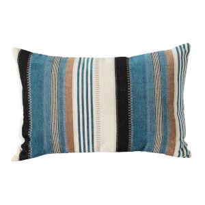 Multicolor Striped Lumbar Pillow
