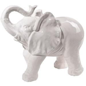 White Standing Elephant