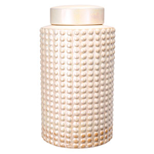 White Tall Ceramic Jar
