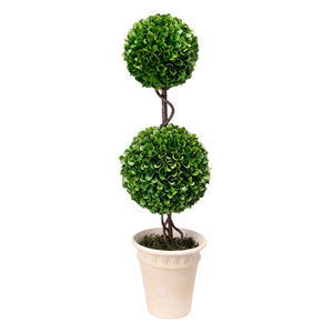 Green Two-Tier Topiary