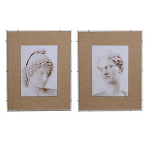 Roman Framed Prints, Set of Two