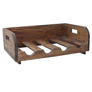 Recycled Wood Bottle Rack
