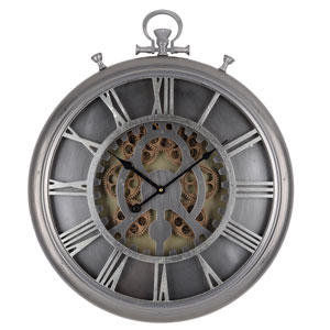 Hereford Clear Pocketed Wall Clock