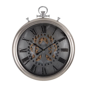 Large Hereford Frosted Pocketed Wall Clock