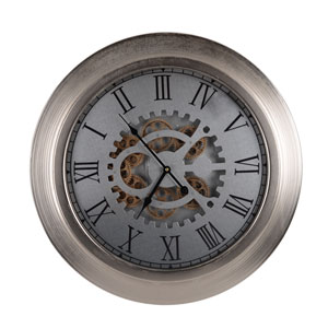 Hereford Wide-Framed Frosted Round Wall Clock
