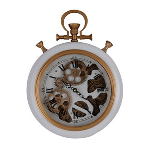 Adkisson Roman White Pocketed Wall Clock