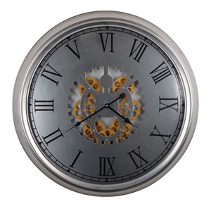 Hereford Frosted Traditional Round Clock - Frosted