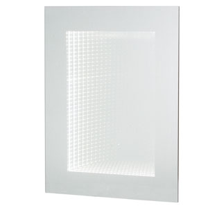 Silver Rectangular Wall Mirror with Light