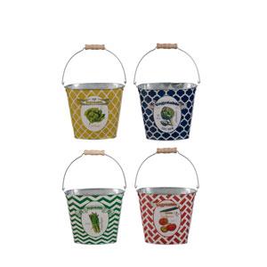 Multicolor Buckets, Set of Four