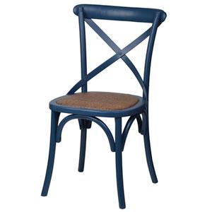 Dark Blue Bistro Dining Chair