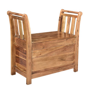 Brown Entry Way Bench