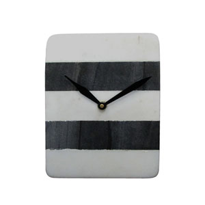Black and White Marble Table Clock
