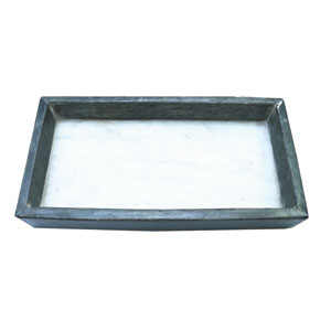 White and Gray Serving Tray