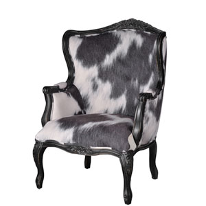 Cow Print Black and White Oversided Arm Chair