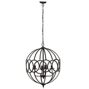 Malin Four-Light Orb Chandelier