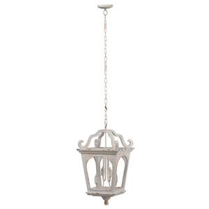 Ballamy White Streetlight Four-Light Chandelier