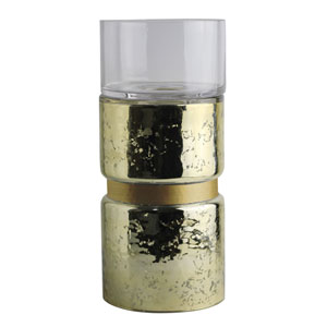 Halloway Small Gold Candle Holder