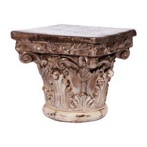 Cream and Bronze Pedestal