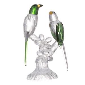 Parrot Green Elegance Duo Sculpture