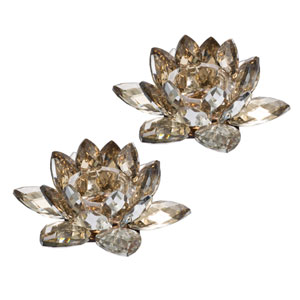 Lotus Candle Holders, Set of Two