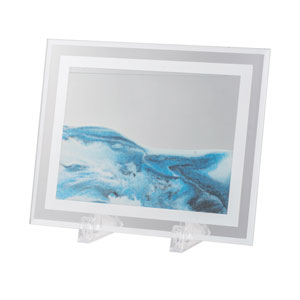 Moving Blue and Grey Sand Table Art
