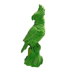 Green Cockatoo Figurine