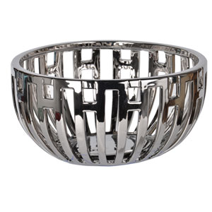 Metro Metallic Centerpiece Bowl