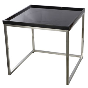 Venetucci Collection Black and Chrome Nesting Table