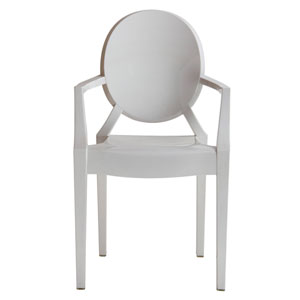 Isolde Baroque White Chair