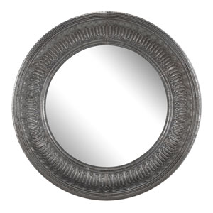Antique Silver Round Wall Mirror