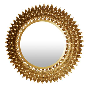 Gold Round Wall Mirror