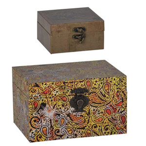 Storage Boxes, Set of Two