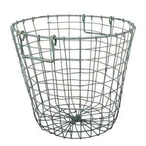 Antique Green Grafton Round Wire Basket