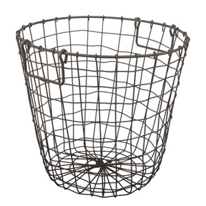 Rusty Grafton Round Wire Basket