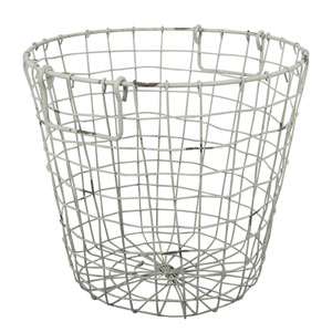 Antique White Grafton Round Wire Basket