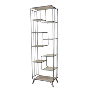 Black and Brown Extra Tall Bookshelf on Wheels