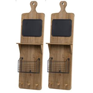 Ellery Wall Shelf with Basket, Set of Two