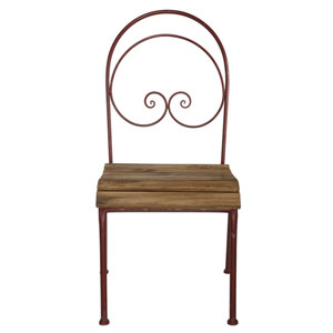Florence de Dampierre by AB Home Brown Metal Chair