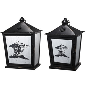 Florence de Dampierre by AB Home Black and White Lanterns, Set of Two