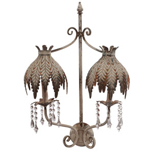Florence de Dampierre by AB Home Brown Two-Light Two-Arm Wall Lamp