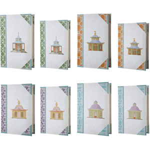 Florence de Dampierre by AB Home Multicolor Bookboxes, Set of Two