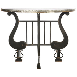 Florence de Dampierre by AB Home Silver and Black Demilune Console