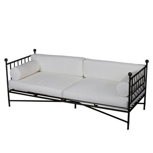 Deauville Black and White Sofa