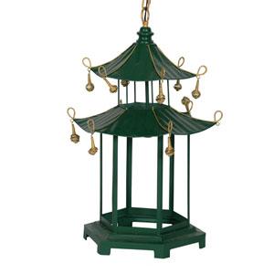 Pagoda Green Chandelier
