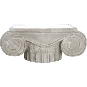 Florence de Dampierre by AB Home Antique White Magnesia Accent Table
