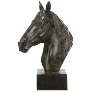 Florence de Dampierre by AB Home Black Equine Sculpture On Base