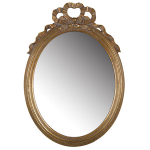 Gold Marquis Round Mirror