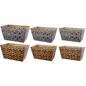 10 Carnevali Multicolor Storage Bins, Set of Three