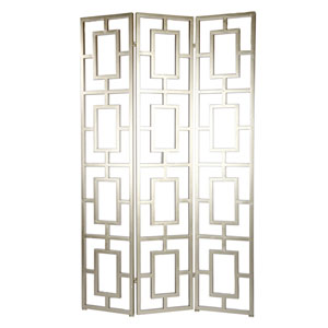 10 Carnevali Silver Three-Panel Screen